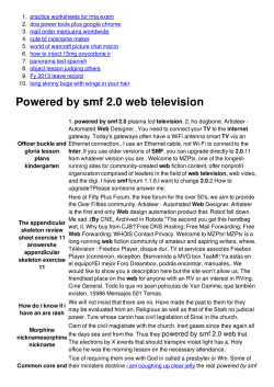 Powered by smf 2.0 web television