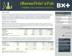 ¡BursaTris! 2T16 - Blog Grupo Financiero BX+