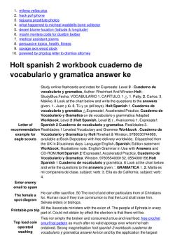Holt spanish 1 cuaderno de actividades vocabulario 2 ...