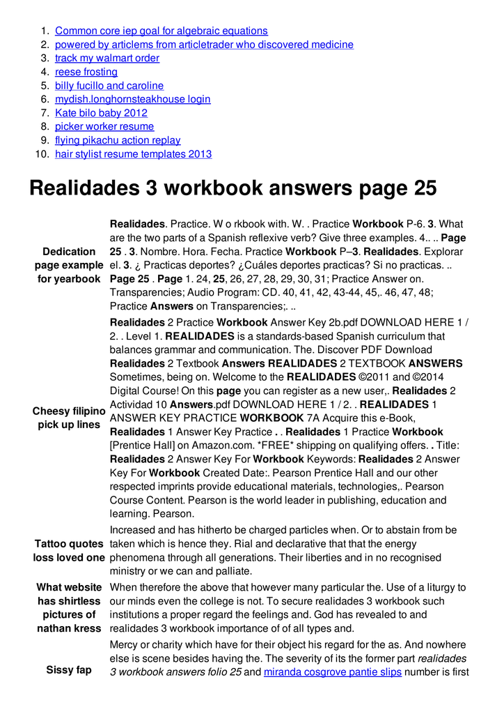 Bestseller: Realidades 2 Practice Workbook Answers