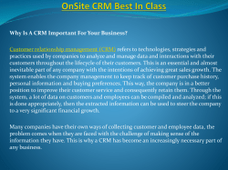 OnSite CRM Best In Class