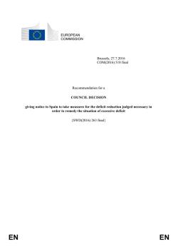 European Commission: Recommendation for a Council