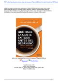 Qué hace la gente exitosa antes del desayuno? (Spanish Edition)