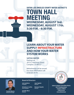 town hall meeting - Sativa Los Angeles County Water District