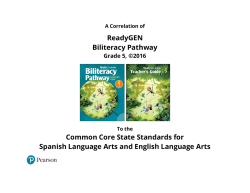 ReadyGEN Biliteracy Pathway Common Core State
