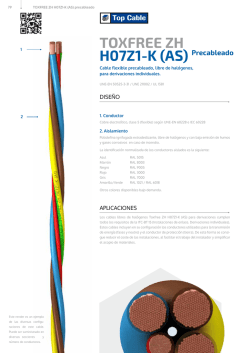 H07Z1-K (AS) Precableado TOXFREE ZH