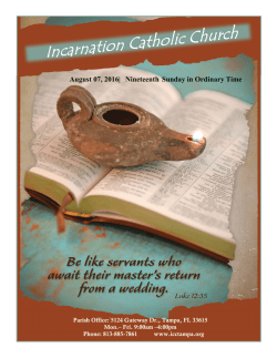 Current Bulletin - Incarnation Catholic Church