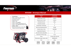 WX3200 – Arranque Manual