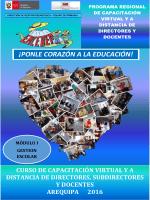 curso de capacitación de directores, subdirectores y