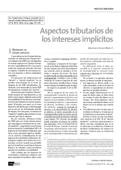 tributación de intereses implícitos