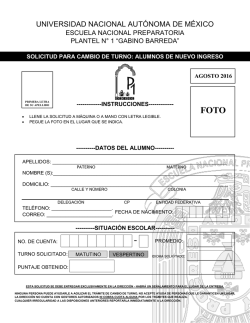 convocatoria - Gabino Barreda
