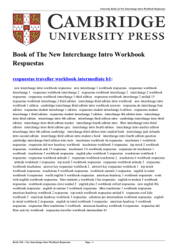 New Interchange Intro Workbook Respuestas