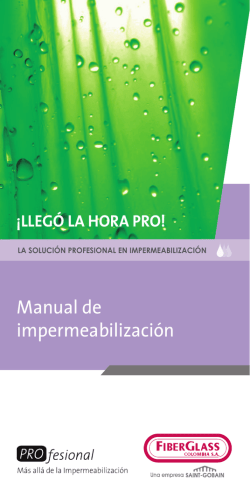 Manual de impermeabilización