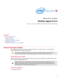 McAfee Agent 5.0.4 (For ePolicy Orchestrator Cloud) Notas de la