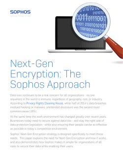 Next-Gen Encryption: The Sophos Approach
