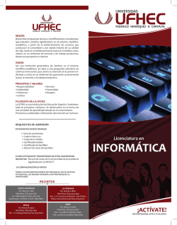 Pensum - Universidad UFHEC