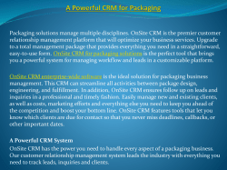 A Powerful CRM for Packaging