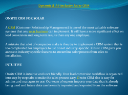 Dynamic & All-Inclusive Solar CRM