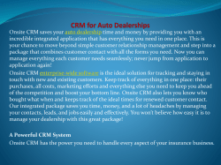 CRM for Auto Dealerships