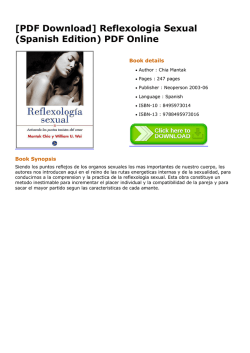 [PDF Download] Reflexologia Sexual (Spanish Edition) PDF Online