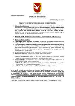 Requisitos para optar a Becas 2017.