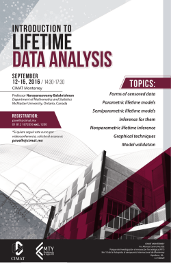 Introduction to Lifetime Data Analysis Curso de N