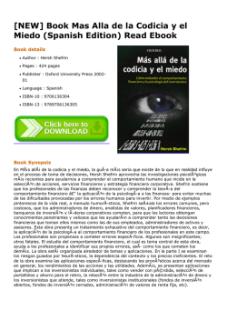 Book Mas Alla de la Codicia y el Miedo (Spanish Edition) Read Ebook