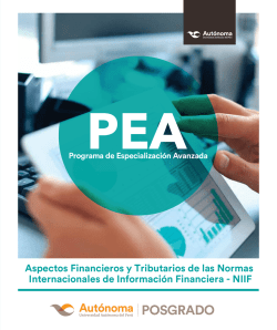 PEA brochure aspecto financieros