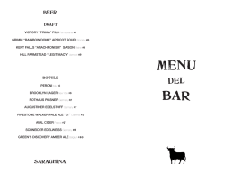 MENU BAR - Saraghina