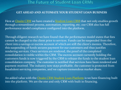 The Future of Student Loan CRMs