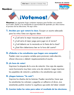 ¡Votemos! - Scholastic News Election 2016
