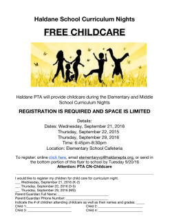 free childcare - Haldane Central School District PTA