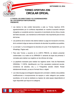 circular 1 - CADAMU SOCCER LEAGUE