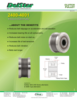 CLUTCH PULLEY ...ABOUT THE BENEFITS