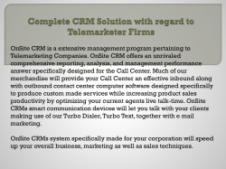 Complete CRM Solution with regard to Telemarketer Firms