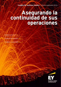 Insights for business leaders, asegurando la continuidad de