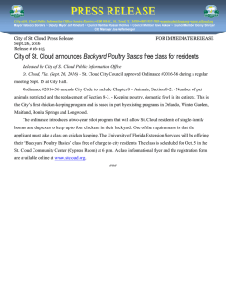 press release - City of St. Cloud, Florida