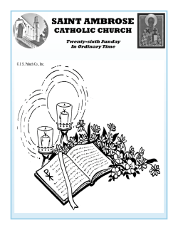 25 September 2016 Bulletin - Saint Ambrose Catholic Church