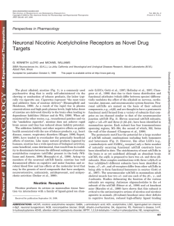 Neuronal Nicotinic Acetylcholine Receptors as Novel Drug Targets