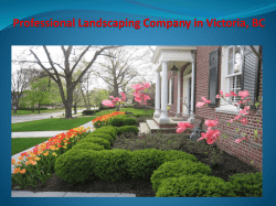 Professional Landscaping Company in Victoria, BC