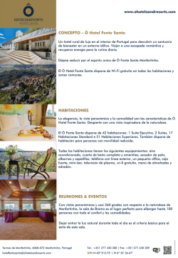 Factsheet - Ô Hotels & Resorts
