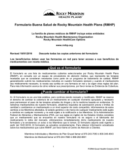 Español - Rocky Mountain Health Plans