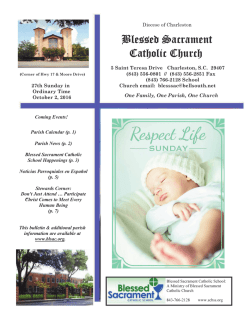 Bulletins - Blessed Sacrament Catholic Church