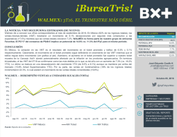 walmex20161005 - Blog Grupo Financiero BX+