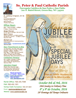 Oct 8th & 9th, 2016 - Ss. Peter and Paul Parish