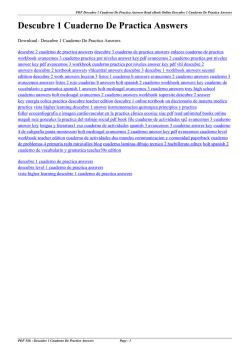 Holt Spanish 3 Cuaderno De Actividades Answers