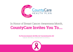 CountyCare Invites You To….