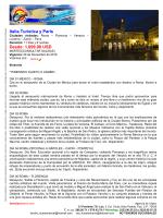 Italia Turística y París Desde