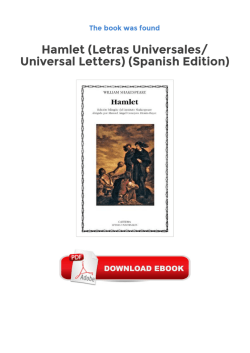 Hamlet (Letras Universales/ Universal Letters) (Spanish Edition