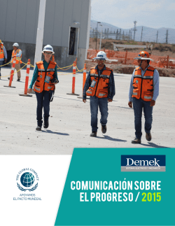 Demek 1 - UN Global Compact